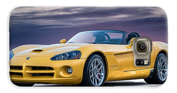 Yellow Viper Convertible Galaxy S6 Case by Douglas Pittman