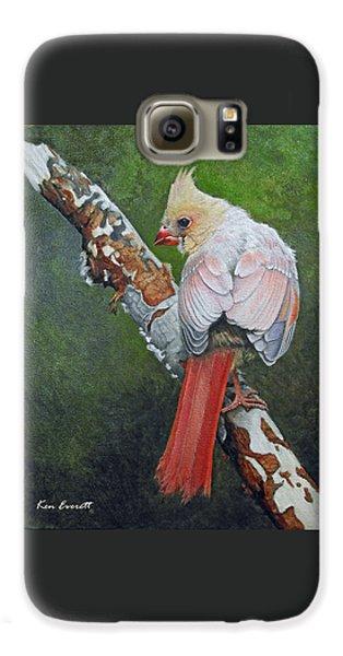 Young Cardinal  Galaxy S6 Case by Ken Everett