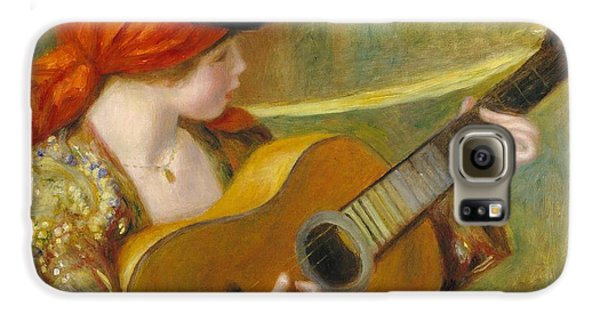 Young Spanish Woman With A Guitar Galaxy S6 Case by Pierre Auguste Renoir