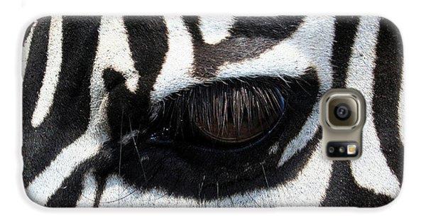 Zebra Eye Galaxy S6 Case by Linda Sannuti