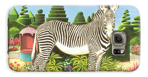 Zebra In A Garden Galaxy S6 Case by Anthony Southcombe