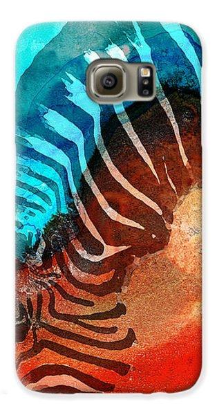 Zebra Love - Art By Sharon Cummings Galaxy S6 Case by Sharon Cummings