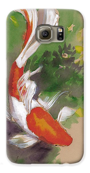 Zen Comet Goldfish Galaxy S6 Case by Tracie Thompson