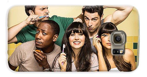 Zooey Deschanel New Girl Tv Show  Galaxy S6 Case by Marvin Blaine