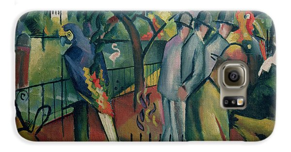Zoological Garden I, 1912 Oil On Canvas Galaxy S6 Case by August Macke