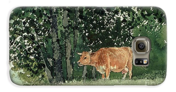 Cow In Pasture Galaxy S6 Case by Winslow Homer
