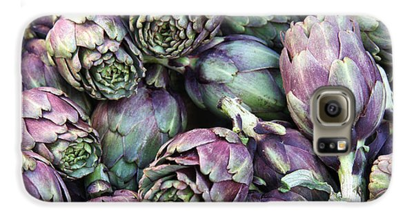 Background Of Artichokes Galaxy S6 Case by Jane Rix
