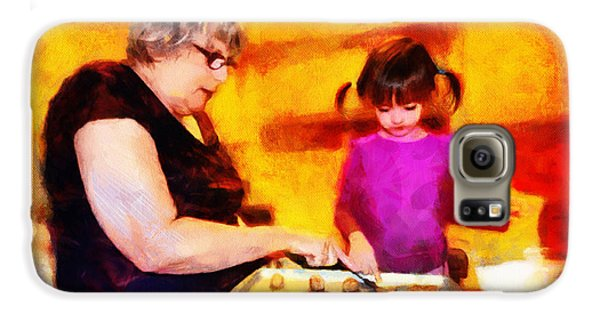 Baking Cookies With Grandma Galaxy Case by Nikki Marie Smith