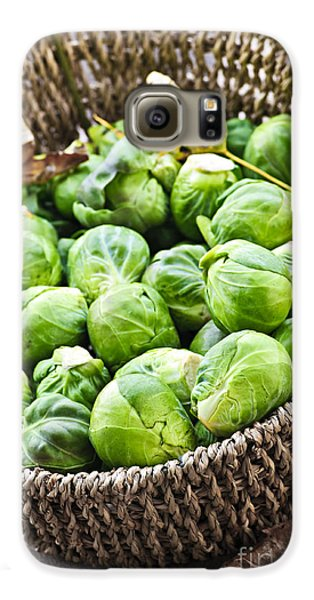 Basket Of Brussels Sprouts Galaxy S6 Case by Elena Elisseeva