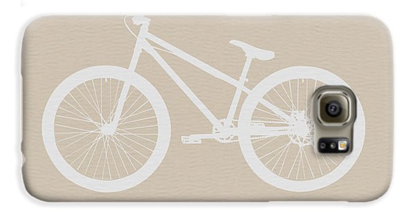 Bicycle Brown Poster Galaxy S6 Case by Naxart Studio