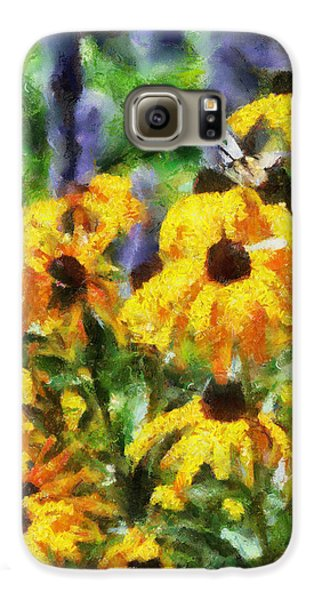 Black Eyed Susans II Galaxy Case by Jai Johnson