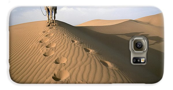 Blue Man Tribe Of Saharan Traders With Galaxy S6 Case by Axiom Photographic