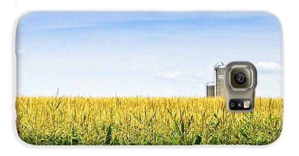 Corn Field With Silos Galaxy S6 Case by Elena Elisseeva