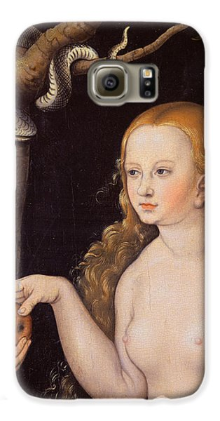 Eve Offering The Apple To Adam In The Garden Of Eden And The Serpent Galaxy S6 Case by Cranach