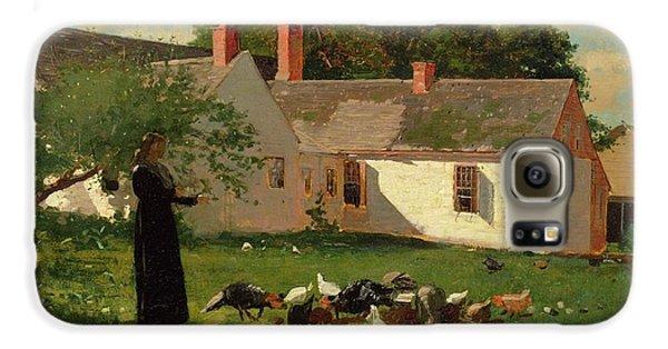 Farmyard Scene Galaxy S6 Case by Winslow Homer