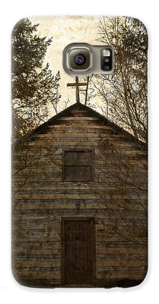 Grungy Hand Hewn Log Chapel Galaxy S6 Case by John Stephens