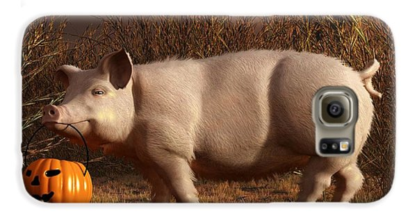 Halloween Pig Samsung Galaxy Case by Daniel Eskridge