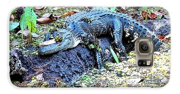 Hard Day In The Swamp - Digital Art Galaxy S6 Case by Carol Groenen