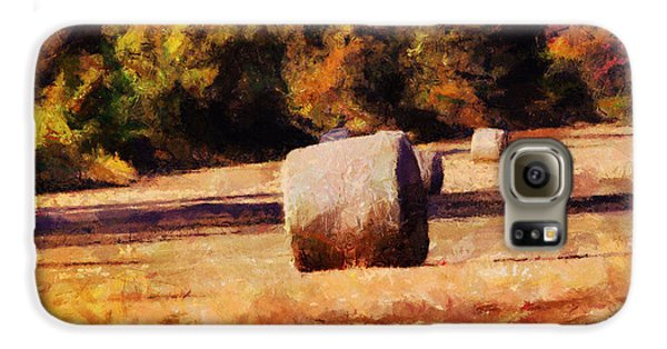 Hay Bales Galaxy Case by Jai Johnson