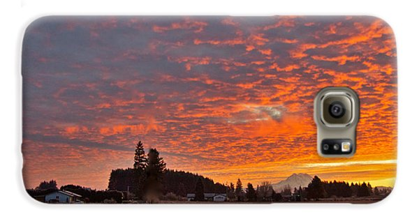 Mount Rainier Dawn Galaxy Case by Sean Griffin