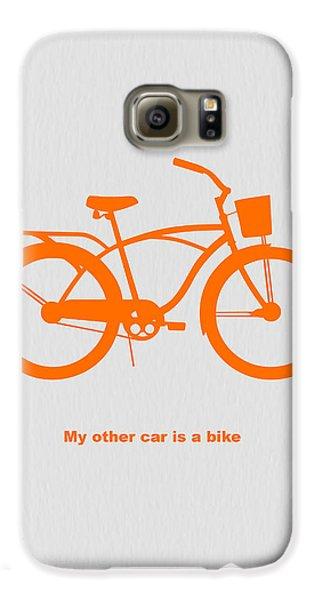 My Other Car Is Bike Galaxy S6 Case by Naxart Studio