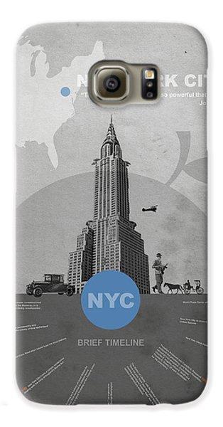Nyc Poster Galaxy S6 Case by Naxart Studio