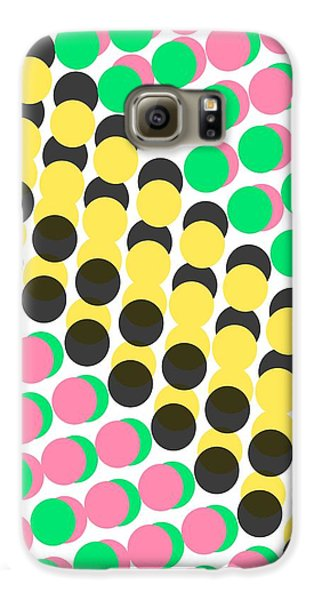 Overlayed Dots Galaxy S6 Case by Louisa Knight