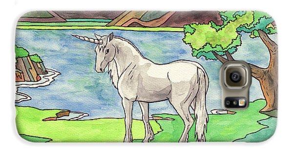 Prehistoric Unicorn Galaxy S6 Case by Crista Forest