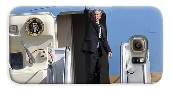 President George Bush Waves Good-bye Galaxy S6 Case by Stocktrek Images