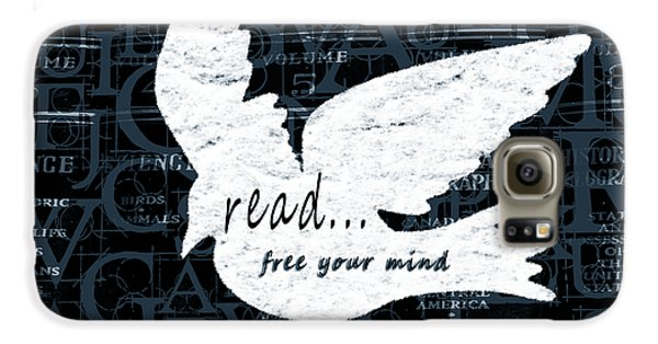 Read Free Your Mind Teal Samsung Galaxy Case by Angelina Vick