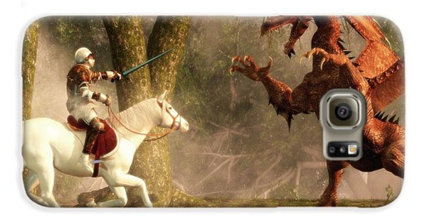 Saint George And The Dragon Galaxy Case by Daniel Eskridge