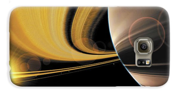 Saturn Glory Galaxy Case by Don Dixon