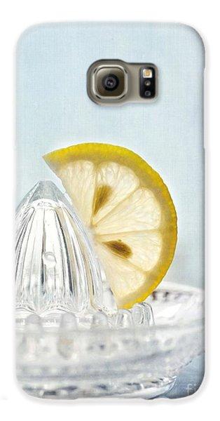 Still Life With A Half Slice Of Lemon Galaxy S6 Case by Priska Wettstein