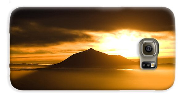 sunrise behind Mount Teide Galaxy Case by Ralf Kaiser