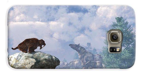 The Paraceratherium Migration Galaxy S6 Case by Daniel Eskridge