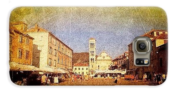 Town Square #edit - #hvar, #croatia Samsung Galaxy Case by Alan Khalfin