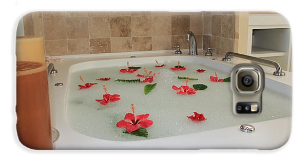Tub Of Hibiscus Galaxy Case by Shane Bechler