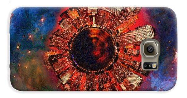 Wee Manhattan Planet - Artist Rendition Galaxy Case by Nikki Marie Smith