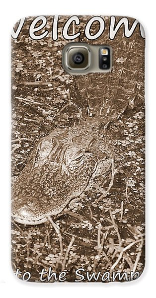 Welcome To The Swamp - Sepia Galaxy S6 Case by Carol Groenen