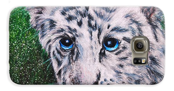 White Tiger Cub Samsung Galaxy Case by Jai Johnson
