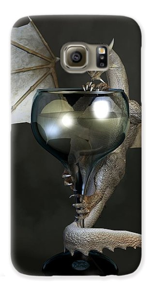 White Wine Dragon Samsung Galaxy Case by Daniel Eskridge