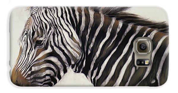 Zebra  Galaxy S6 Case by Odile Kidd