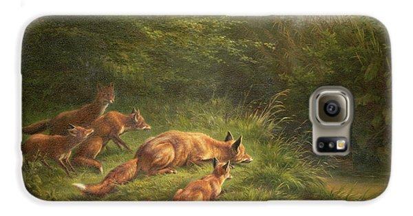 Foxes Waiting For The Prey   Galaxy S6 Case by Carl Friedrich Deiker