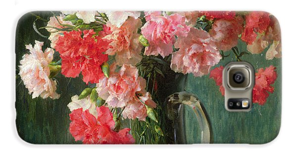 Still Life Of Carnations   Galaxy S6 Case by Emile Vernon