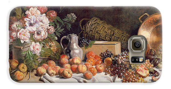 Still Life With Flowers And Fruit On A Table Galaxy S6 Case by Alfred Petit