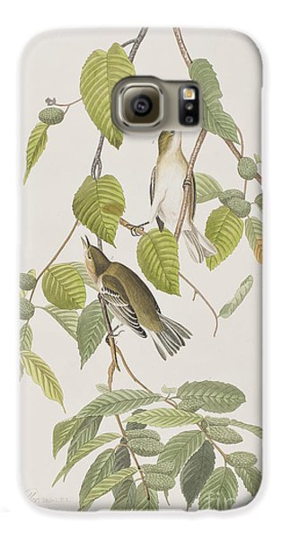 Autumnal Warbler Galaxy S6 Case by John James Audubon