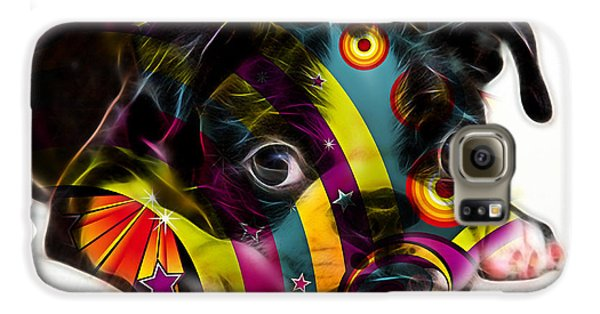 Boston Terrier Puppy Galaxy S6 Case by Marvin Blaine