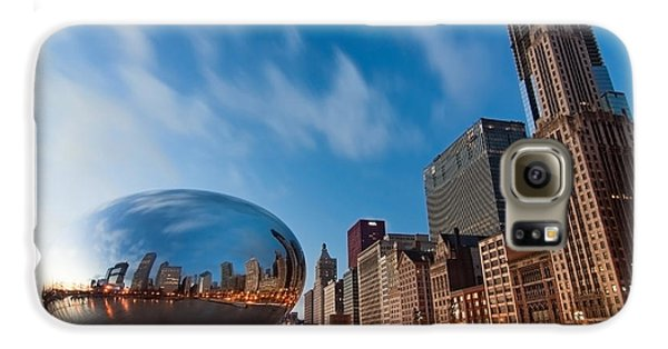 Chicago Skyline And Bean At Sunrise Galaxy S6 Case by Sven Brogren
