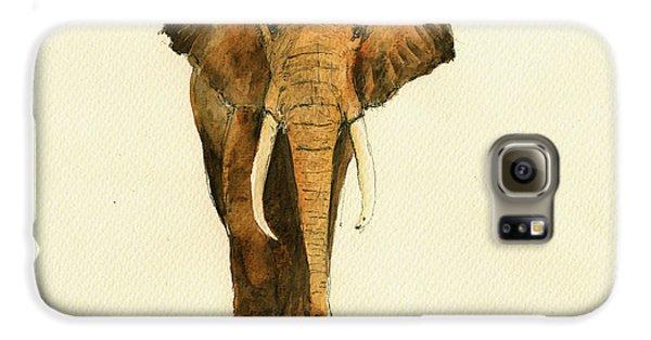 Elephant Watercolor Galaxy S6 Case by Juan  Bosco