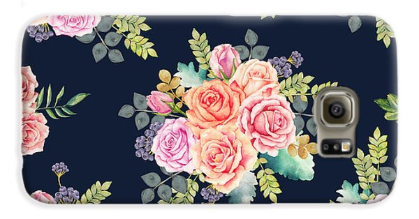 Floral Pattern 1 Galaxy S6 Case by Stanley Wong